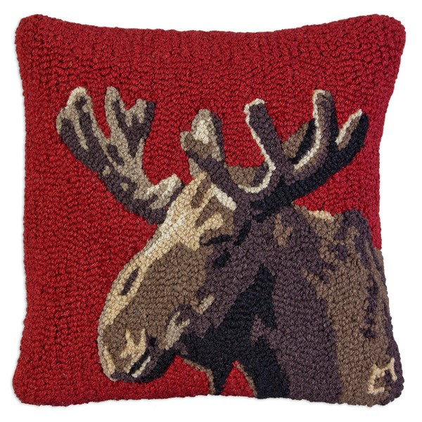 Picture of Velvet Moose on Red