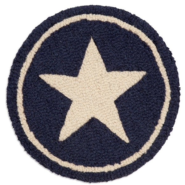 Picture of White Star on Blue