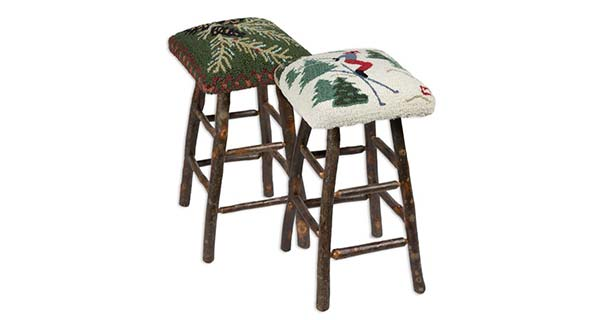 High Stools and Long Benches: New Products, New Designs from Leading Hand-Hooked Rug & Pillow Purveyor