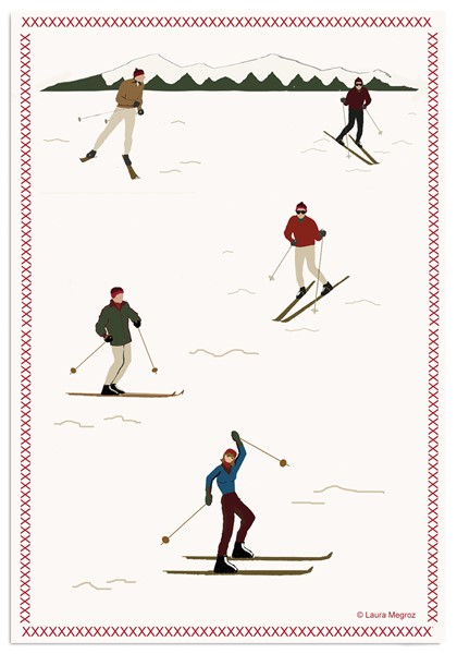 Picture of Downhill Skiers