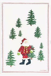 Picture of Santa Scarf In Trees