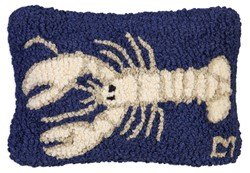 Picture of White Lobster on Navy