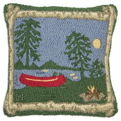 hooked lodge pillow