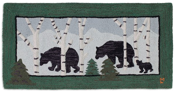 Picture of Three Bears in Birch Woods