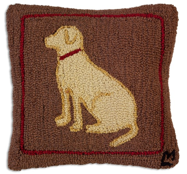Picture of Yellow Dog on Brown