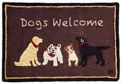 Picture of Dogs Welcome on Brown